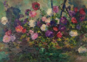 Asters, 1949, oil on cardboard, 66x90