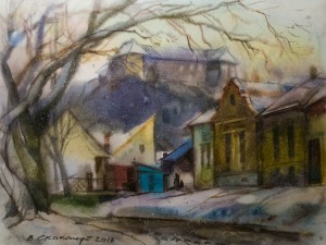 """PICTURESQUE UZHHOROD IN WATERCOLOURS"". EXHIBITION OF VASYL SKAKANDII"