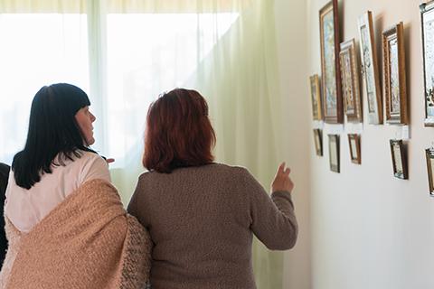 Iryna Mezeria presented her works in Uzhhorod