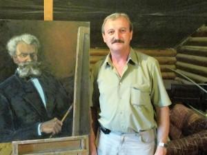 With  Munkácsy's portrait