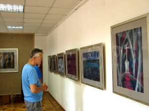 "PÉTER MATL PRESENTED GRAPHIC EXHIBITION ""FIVE"" IN KHUST"