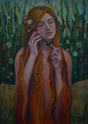 Господинчик М. Жінка, 2016, пап, вугілля, 35×45