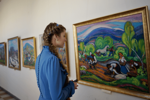 An exposition of works by the People's Artist of Ukraine Ernest Kontratovych