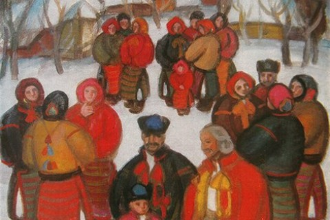 Winter holidays in the works of the Transcarpathian artists